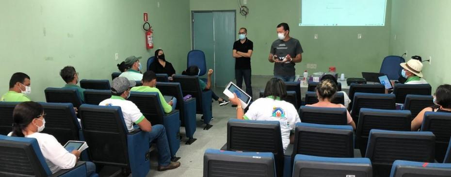 Agentes Comunitários de Saúde (ACS)  recebem capacitação para utilização do sistema eSUS e produção nos tablets