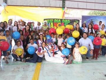 Dia das Crianças é comemorado com festa na rede municipal de ensino