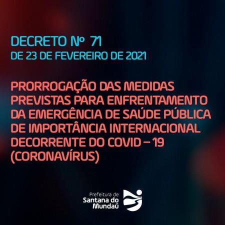 Decreto 71, de 23 de fevereiro de 2021