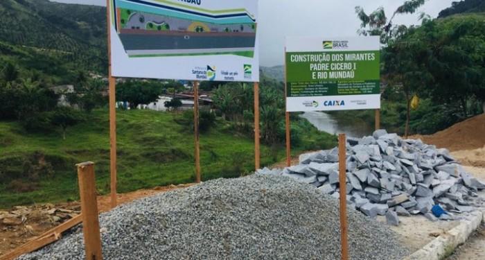 Prefeitura inicia construção dos Mirantes Padre Cícero I e Rio Mundaú