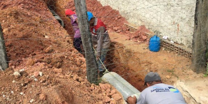 Prefeitura realiza obra para drenagem de águas pluviais no Residencial Jussara
