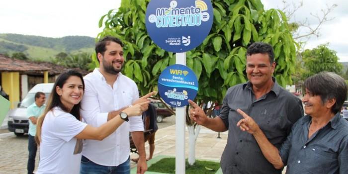 Com inaugurações e wi-fi grátis na praça, Prefeitura leva melhorias ao povoado Munguba