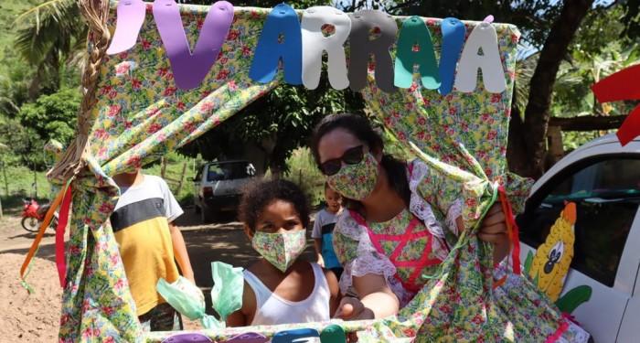 Assistência Social promove arraiá itinerante para 250 crianças