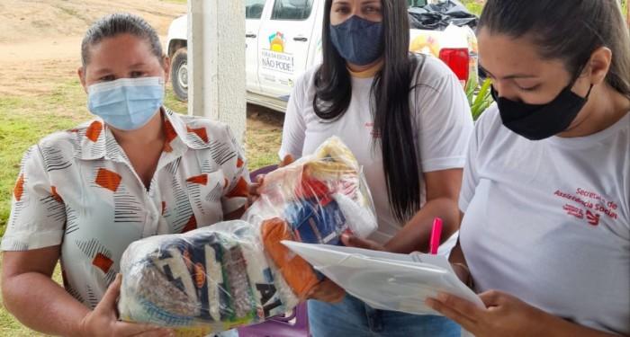 Assistência Social realiza entrega de cestas nas comunidades quilombolas