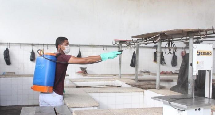 Prefeitura realiza pulverização em combate ao COVID-19